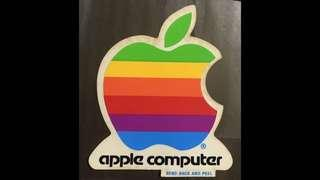 APPLE computer early logo sticker (toned)