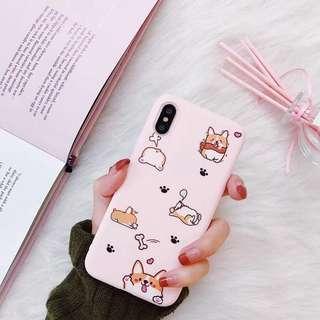 ✨[INSTOCK] pink corgi iphone 8+ case / cover