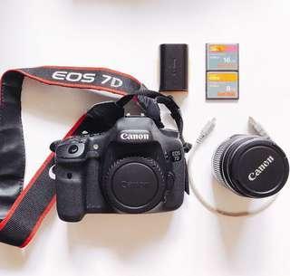 Canon 7D + Lens + Accessories