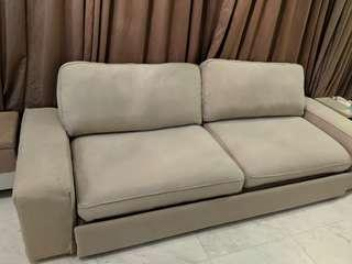 Clearance! Preloved Ikea Kivik Sofabed in Beige