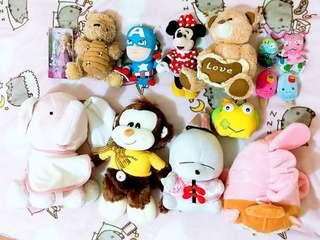 Stuffed toys plushies barbie bundle