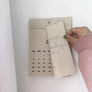 自留款棉麻手撕日曆 居家裝飾/日曆/月曆/拍照道具