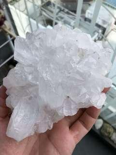 天然白水晶簇