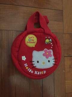 Hello kitty 袋 紅色 化妝袋 小朋友出街袋 便攜袋 red bag hello kitty bag sanrio