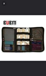 ASK FOR FREE NORMAL MAIL!! BUBM (Be Unique Be Myself) cables and gadgets organiser foldable pouch. (Medium)