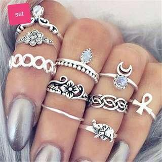 Set antique rings