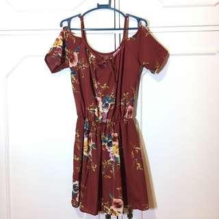 Floral Offshoulder Dress