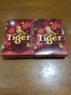 Tiger beer poker cards (sealed)