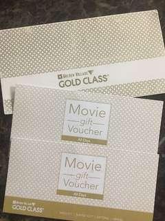 Golden Village Gold Class Movie Voucher