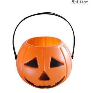 現貨🎃萬聖祭限定▪️南瓜手提糖果籃 Halloween 萬聖節派對 裝飾 打扮 Party