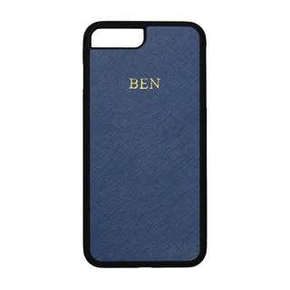 🚚 Personalised Saffiano Leather iPhone 7/8 Plus Case - Navy