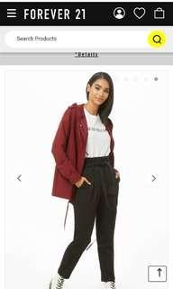 Plaid Paperbag Style Pants