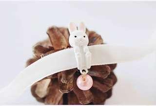 🍁現貨🎃 萬聖祭 ▪️包郵▪️🐰珍珠兔子絲帶項鏈 頸鏈 萬聖節 Halloween