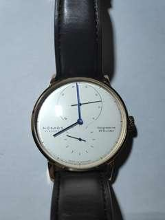 Nomos Lambda vintage classic design watch mechanic hand winding automatic watch rose gold