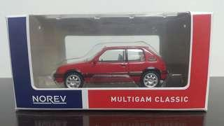 Norev Peugeot 205 GTi Red
