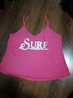 Roxy pink surf Cropped top