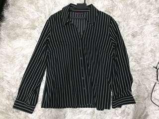 Black striped blouse ( long sleeve )