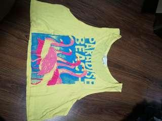 Forever 21 Yellow Cropped Top