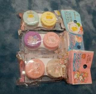 My Melody/Little Twin Stars/蛋黃哥 隱形眼鏡盒 contact lens case