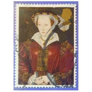 Stamp UK Great Britain 1997 The 450th Anniversary of the Death of King Henry VIII Catherine Parr 26p