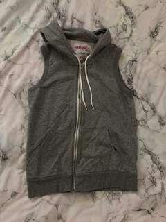 sleeveless hoodie size s