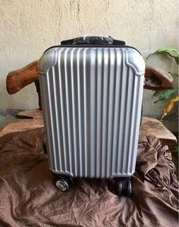 Silver Small Size Luggage