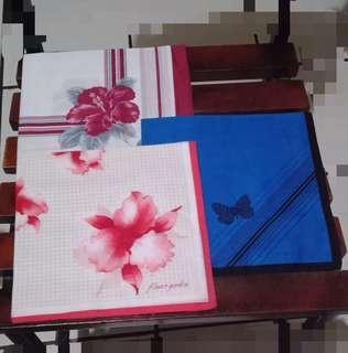 Handkerchiefs 3 Sets made in Japan