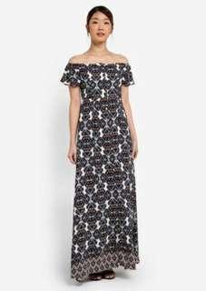 Zalora off shoulder maxi dress