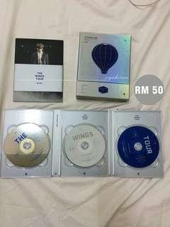 BTS THE WINGS TOUR BLU RAY discs+outbox SBUX50