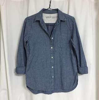 MUJI cotton denim shirt (OP$280)