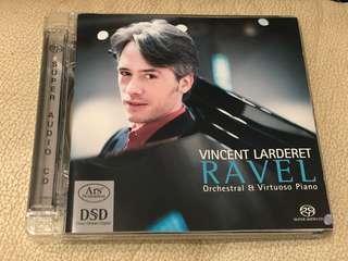 Vincent Larderet- Ravel Orchestral & Virtuoso piano 2014年 Hybrid Multichannel SACD