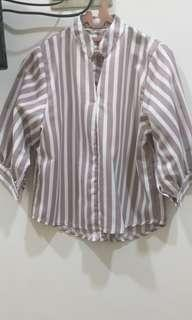 Brown Stripes Top