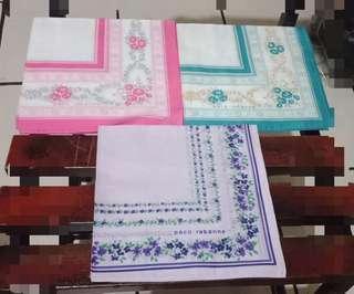 Handkerchiefs set of 3 Made in Japan