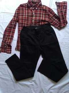 Shirt + black pant