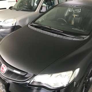 Honda civic  Bonnet Wrap