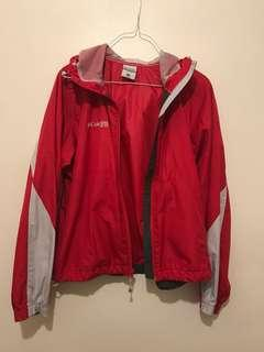 Red Columbia windbreaker (medium)