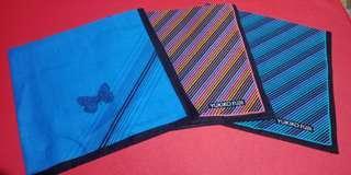 Hankerchiefs Set of 3 Made in Japan