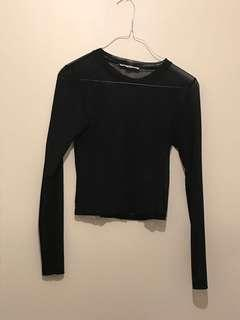 Black shear top (one size)