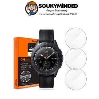 [IN-STOCK] Spigen Tempered Glass Screen Protector Designed for Samsung Galaxy Watch 42mm (2018) (3 Pack)