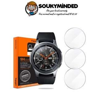 [IN-STOCK] Spigen Tempered Glass Screen Protector Designed for Samsung Galaxy Watch 46mm (2018) (3 Pack)