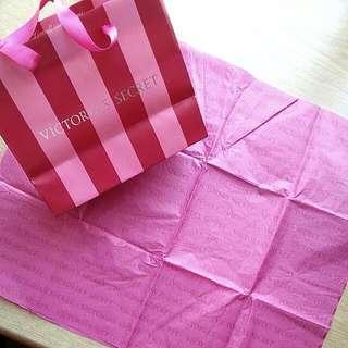 RARE 2008 USA Xmas Victoria's Secret VS Paper Bag