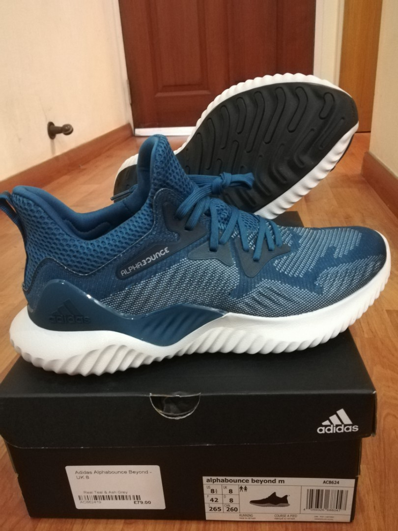 Adidas Alphabounce Beyond M Real Teal Ash Grey e8eeef045