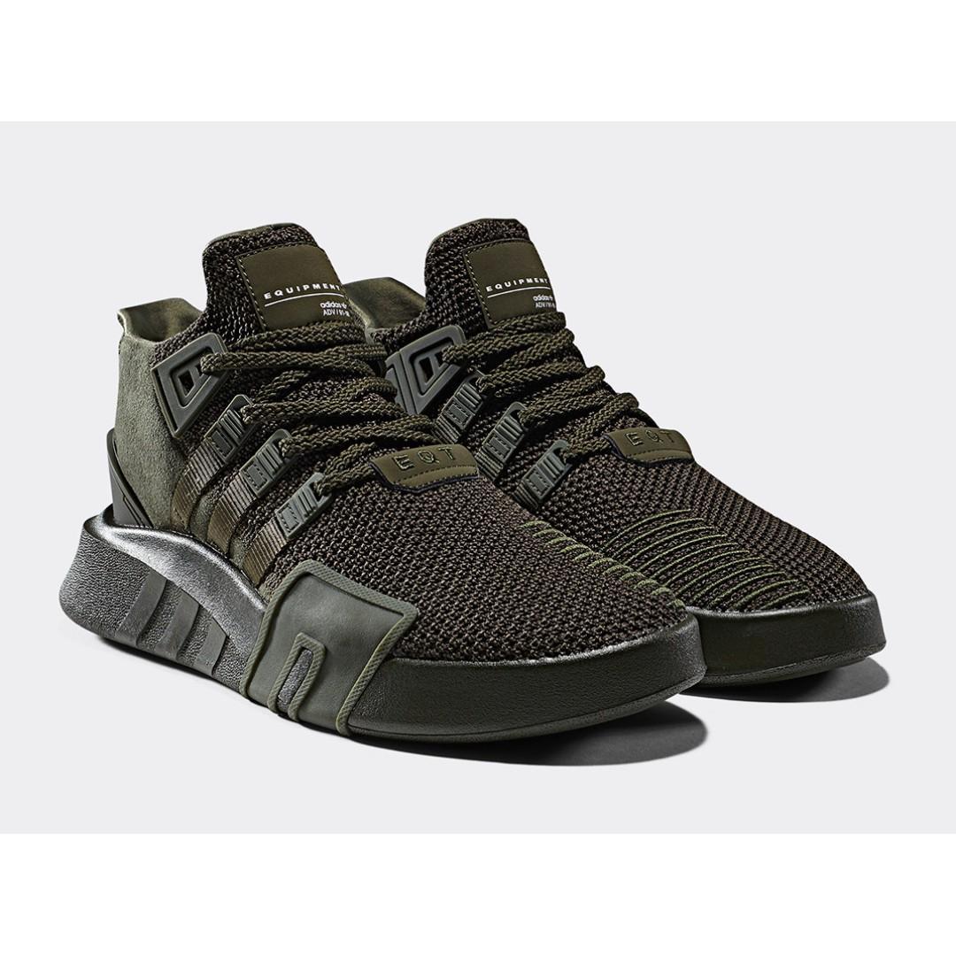timeless design 2b12a bddd5 Adidas EQT BASK ADV Olive Green, Men's Fashion, Footwear ...
