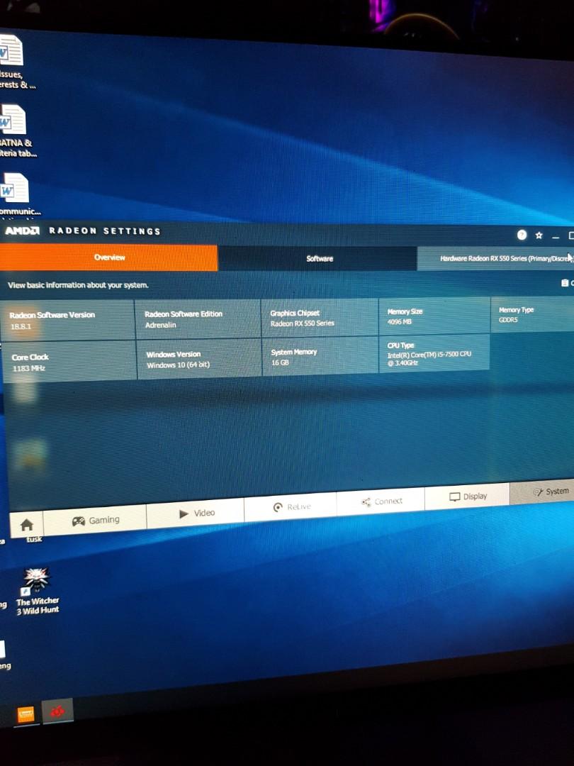 AMD RX550 4GB GPU