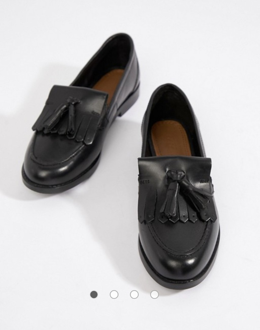 3a7e7c23384 ASOS DESIGN Maxwell leather loafers