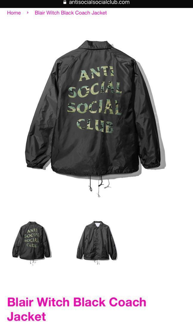 65770a4969ff Anti Social Social Club Blair Witch Camo Coach Jacket 100 % Authentic Brand  New
