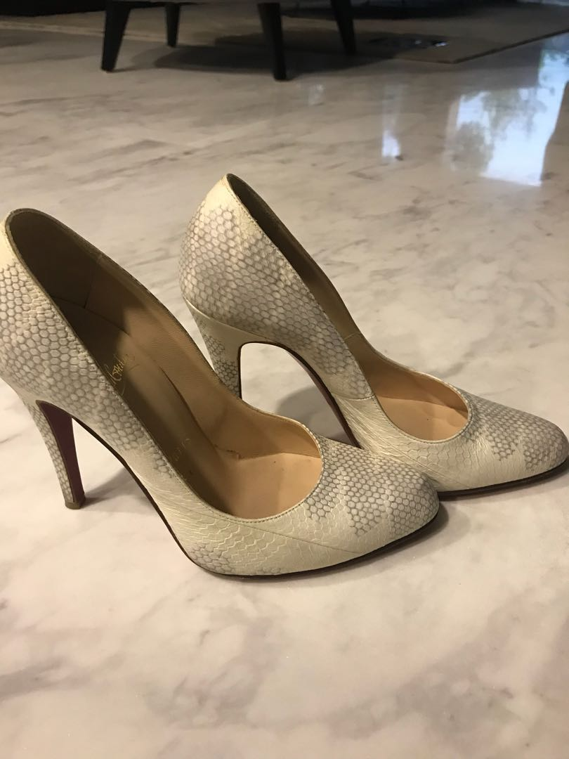 outlet store a8137 20246 Authentic Christian Louboutin water snake leather