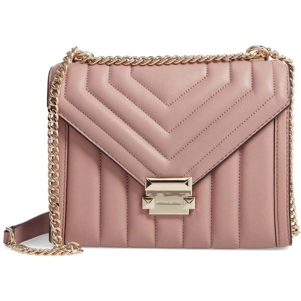 b22b882a830b Authentic MK Michael Kors Whitney Large Quilted Leather Convertible ...