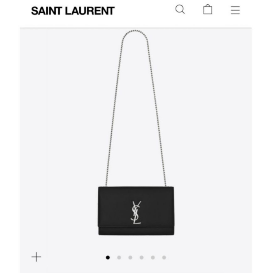 a36c50b3f3d2 Authentic YSL Kate Medium Sling Bag - Black