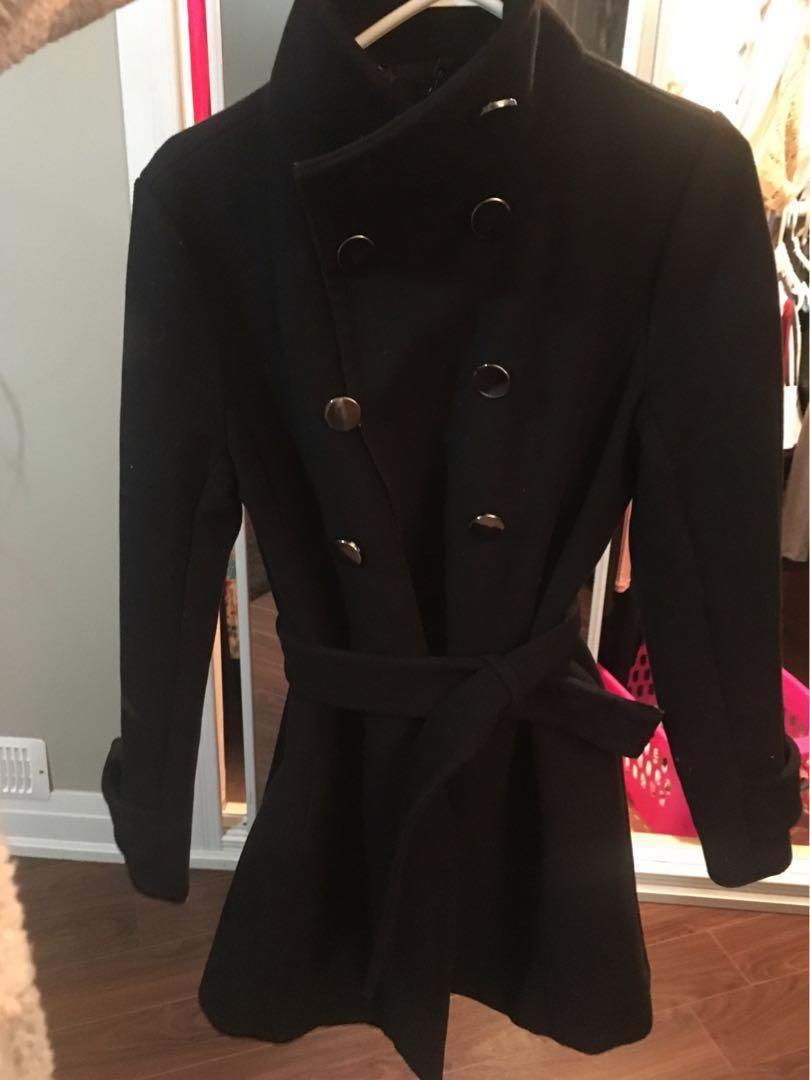 Babaton wool coat size medium